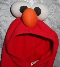 Elmo Hoodie Romper with Eyes & Nose Attached to Hood