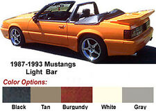 "MUSTANG CONVERTIBLE LIGHT BAR,  1990-93 (1979-89 see note), "" BLACK """