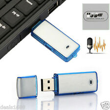 8GB Mini Digital SPY Sound Audio Voice Recorder USB Disk Pen Drive Dictaphone