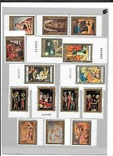CHRISTMAS THEME STAMPS- 4 African countries-Unlisted imperf varieties ( 20 stamp