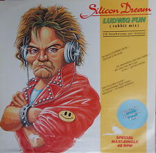 "12"" Maxi Silicon Dream ‎Ludwig Fun (Rabbit Mix) green Vinyl,VG++,cleaned,Blow Up"