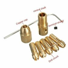 8 Pcs Collet Chuck Multi Size 0.5-3 mm Clamp Set Mini Micro PCB Drill Bit Holder
