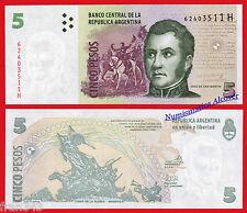 ARGENTINA 5 Pesos 2013 Serie H Pick 353  SC / UNC