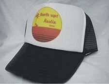 Surfs Up Austin Texas Trucker Hat mesh hat snapback hat Brown