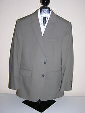 $350 New Jos A Bank Poplin spring weight  solid olive 46 S 42 W  Tailored fit