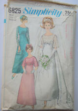 Vintage 1960s Wedding Dress or Formal Gown Pattern by Simplicity 6825