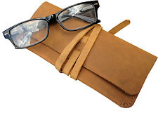 Vintage Distressed Leather Glasses Case/Pouch Old Skool Design