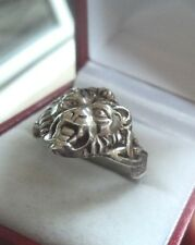 UNUSUAL Vintage Silver Lion Ring  c.1960/70s   -  size U