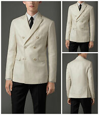 NEW (SAMPLE) PAUL SMITH OFF WHITE SLIM FIT LINEN BLAZER, JACKET. UK 40R, EUR 50R
