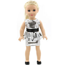 "Fits 18"" American Girl Madame Alexander Handmade Doll Clothes white dress MG042"
