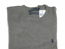 Polo Ralph Lauren Mens RL Heavy Cotton Knit Pony Logo Solid Crewneck Sweater