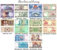 ***** World Currency Set Iraq,Bhutan,Cambodia,Croatia and More UNC *****