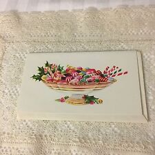 Vintage Greeting Card Christmas Candy Dish Norcross