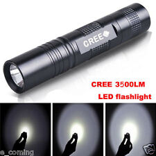 High Power 3500 LM 3 Mode CREE XM-L T6 LED 18650 Zoomable Flashlight Focus Lamp