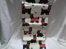 New with foil label Kay Dee pure linen towel Lots of scotties and lots of plaid!