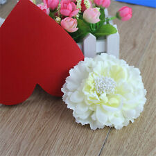 Women Bridal Wedding Peony Flower Hair Clip Barrette Brooch Accessories