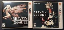 Bravely Default (used good cond) & Bravely Second (NEW! Sealed) Lot for the 3DS