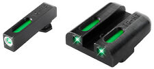 Truglo TG13WA1A TFX Walther PPQ & P99 Green 3 Dot Tritium/Fiber Optic Set