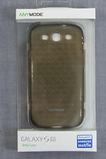 SAMSUNG GALAXY S III Black Anymode Polygon Jelly Silicone Case NEW SEALED