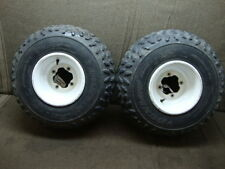 91 YAMAHA ATV YFM 350 X YFM350X WARRIOR REAR WHEEL RIMS AND TIRES #GG5