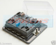12V/24V 10 WAY MINI BLADE FUSE BOX HOLDER WITH LED FAILURE WARNING LIGHTS