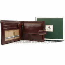 Mens QUALITY Leather Wallet by VISCONTI Italian Brown Gift Boxed NEW Style Tab