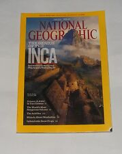 NATIONAL GEOGRAPHIC MAGAZINE APRIL  2011 - INCA/CRIMEA/NYIRAGONGO VOLCANO
