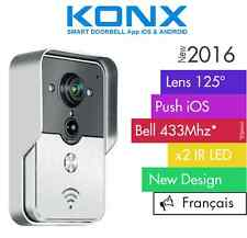 KONX® 2016 Doorbell Interphone Portier Video IP Réseau Wifi RJ45 + Voix Français