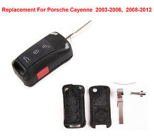 For Porsche Cayenne 4 Button Keyless Remote key Fob Flip Case Shell Replacement