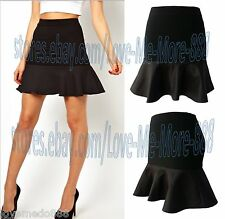 Womens Celebrity Party Wear to Work Fish Tail Mermaid Skirts Dresses BLACK Small