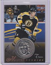 RARE 1997-98 PINNACLE MINT JOE THORNTON SILVER / NICKEL ROOKIE COIN & CARD #29