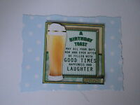 PK 2 A BIRTHDAY TOAST HUSBAND EMBELLISHMENT TOPPERS FOR CARDS OR CRAFTS
