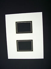Picture Framing Mat 8x10 for two 4x6 photos Ivory with black liner set of 2 mats