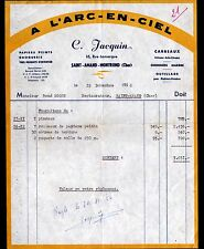 """SAINT-AMAND-MONTROND (18) PLATRERIE PEINTURE VITRERIE """"Camille JACQUIN"""" en 1956"""