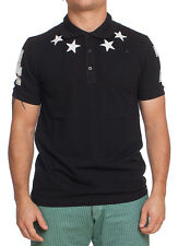 GIVENCHY  MEN POLO SHIRT BLACK WITH WHITE STARS NWT SIZE L