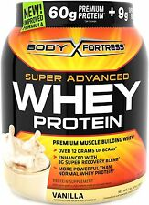 Body Fortress Super Advanced Whey Protein Powder, Vanilla, 2 Pound, New