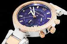 Michael Kors MK6141 Chronograph Parker Two-Tone Rose Gold & Silver Women's Watch