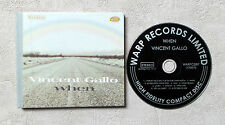 """CD AUDIO DISQUE INT/ VINCENT GALLO """"WHEN"""" CD LIMITED ÉDITION HARDBOUND COVER"""