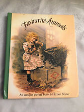 Antique Pop-Up Book by Ernest Nister - Favourite Animals - Moseley - 1st 1989