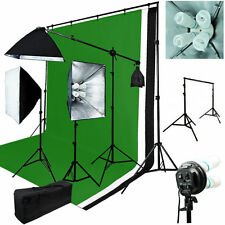 6 x 9 ft. Muslin Background Support Kit Photo Video 2400W Lighting Studio Set