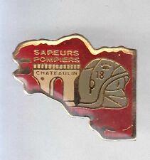 RARE PINS PIN'S .. POMPIER FIRE BRETAGNE  CHATEAULIN 29 ~A8