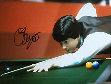 JOHN PARROT - TOP ENGLISH SNOOKER PLAYER - SUPER SIGNED COLOUR PHOTO