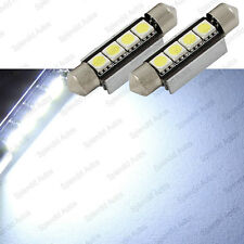 Xenon White 42mm 4-SMD Error Free 578 211-2 6411 LED Dome Light (2 Pieces)