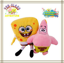 2 LARGE 75CM SPONGEBOB & 50CM PATRICK STAR PLUSH SOFT DOLL BEAR GIRL BOY KID TOY