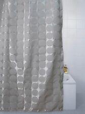 Blue Canyon Bathroom Sphere Disc Circles Shower Curtain in Blue Gold or White