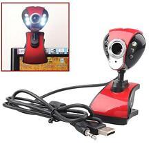 USB Mega LED HD Webcam Caméra Web Cam avec MIC pour ordinateur PC portable A EH