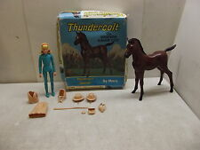 VINTAGE MARX JOHNNY WEST JOSIE FIGURE W/ACCESSORIES & COLT HORSE