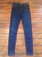 Topshop Moto Skinny Jeans Jamie  Blue Size 10 W28  To Fit L34.  Fr4 DEFECT