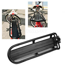 Black MTB Bike Bicycle Cycling Alloy Cargo Carrier Seat Post Pannier Rear Rack