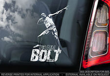 Usain Bolt - Car Window Sticker - Olympics 100m Champion - Jamaica Sign